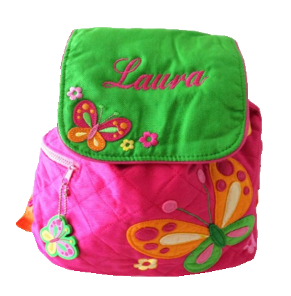 Personalised Butterfly quilted backpack bag
